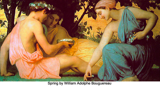 Spring by William Adolphe Bouguereau