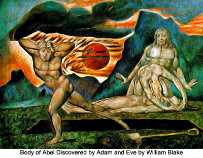 Body of Abel Discovered by Adam and Eve by William Blake