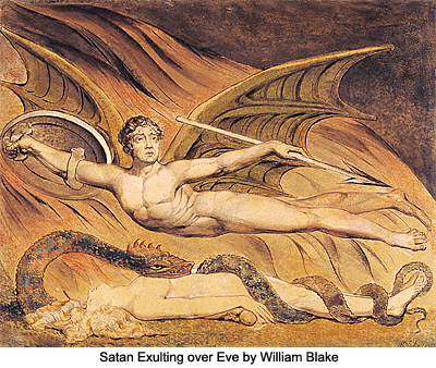 Satan Exulting over Eave by William Blake