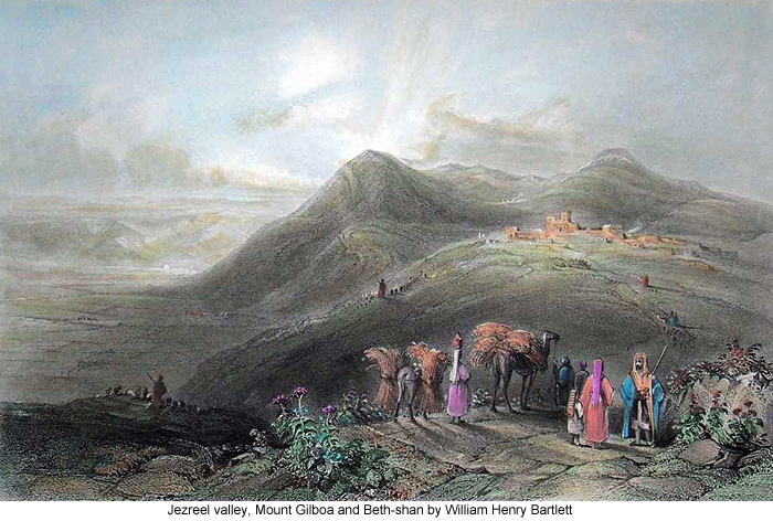 Jezreel, Mount Gilboa and Beth-shan by William Henry Bartlett