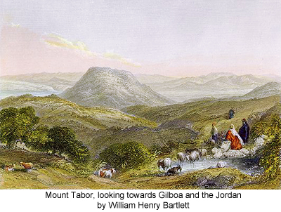 Mount Tabor, looking towards Gilboa and the Jordan by William Henry Bartlett