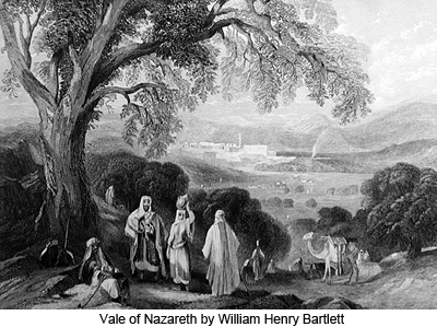 Vale of Nazareth by William Henry Bartlett
