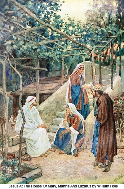 Jesus At The House of Mary, Martha And Lazarus by William Hole