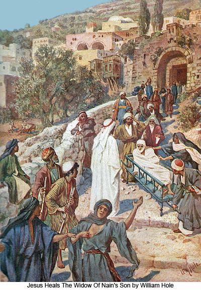 Jesus Heals The Wodow of Nains Son by William Hole