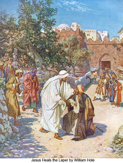 Jesus Heals the Leper by William Hole