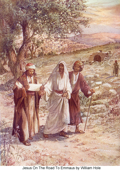 On The Road To Emmaus by William Hole