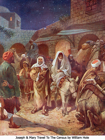 Joseph and Mary Travel to the Census by William Hole