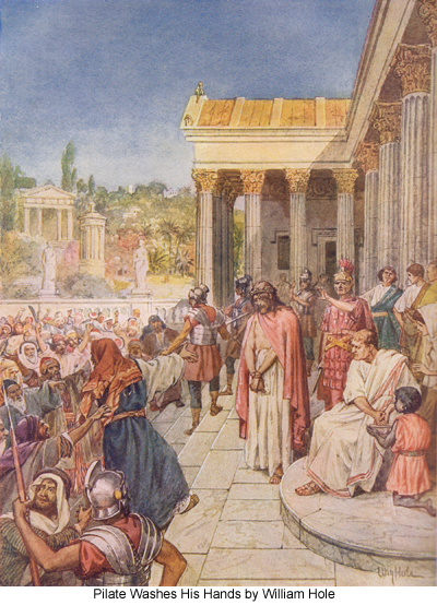 Pilate Washes His Hands by William Hole