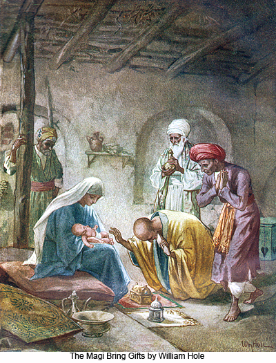 The Magi Bring Gifts by William Hole