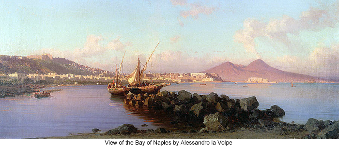 View of the Bay of Naples by Alessandro la Volpe