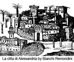 La citta di Alessandria by Bianchi Remondini, drawing