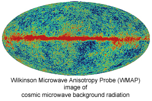 Cosmic Microwave Background Radiation - Wilkinson Microwave Anisotropy Probe (WMAP)