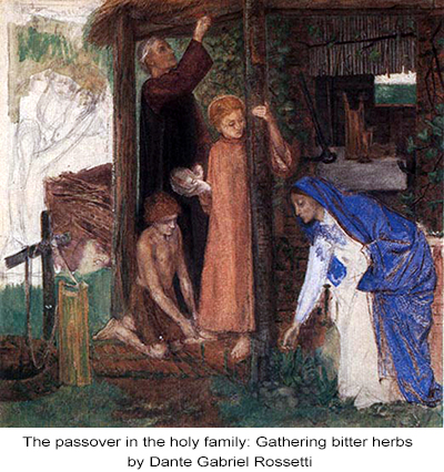 The passover in the holy family: Gathering bitter herbs by Dante Gabriel Rossetti