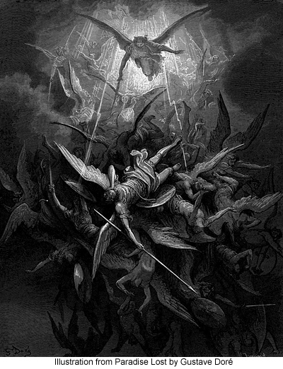 Illustration from Paradise Lost by Gustave Dore