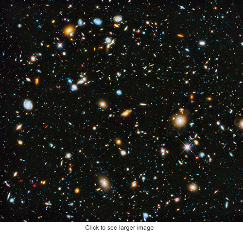 Hubble Telesope colorful image 2014