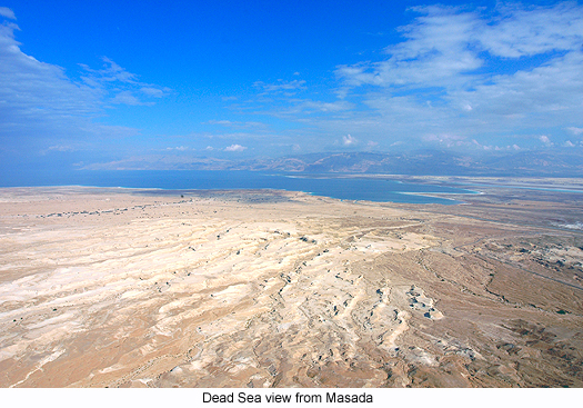 Dead Sea view from Masada, photograph