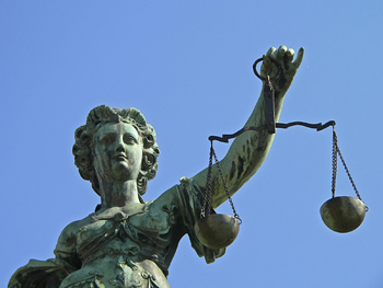 Justicia. Justice with scales