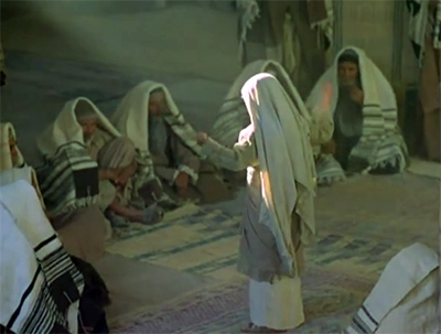 Jesus teaching in the synagogue as a child