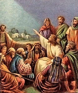 Jesus teaching about the kingdom