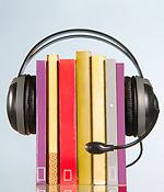 headphones and books