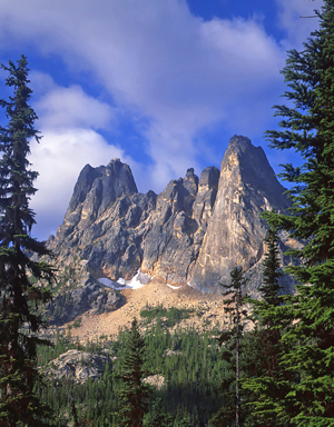 Liberty Bell Mountain in the Okanogan National Forest of Washington State.