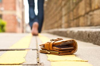Wallet lying in the street
